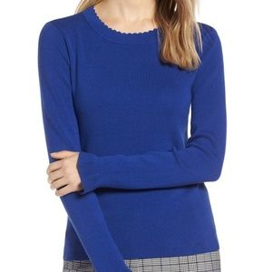 Halogen Scallop Trim Sweater Sz S NWT NEW
